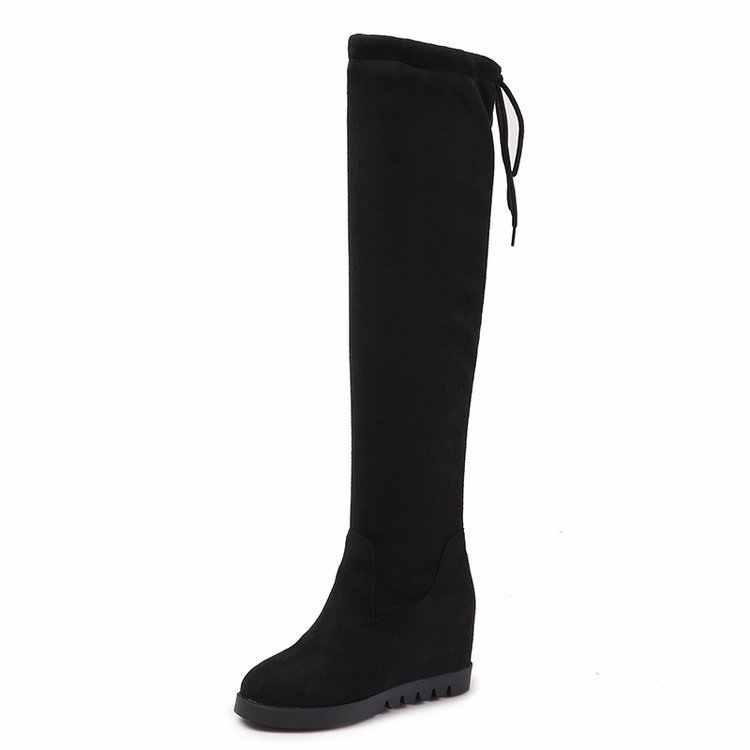 Новая обувь Женские ботинки черного цвета Ботфорты сексуальный женский осень-зима дамские сапоги до бедра C323