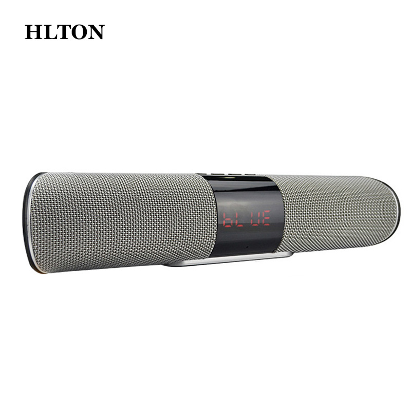 HLTON Portable HIFI Wireless Bluetooth Speaker Handsfree Stereo FM AUX TF Card Wireless Boombox Super Bass