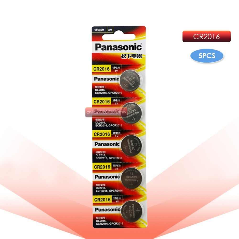 PANASONIC 1pc เดิม cr2016 BR2016 DL2016 LM2016 KCR2016 ECR2016 3v ปุ่มเซลล์แบตเตอรี่ลิเธียมสำหรับนาฬิการถของเล่น