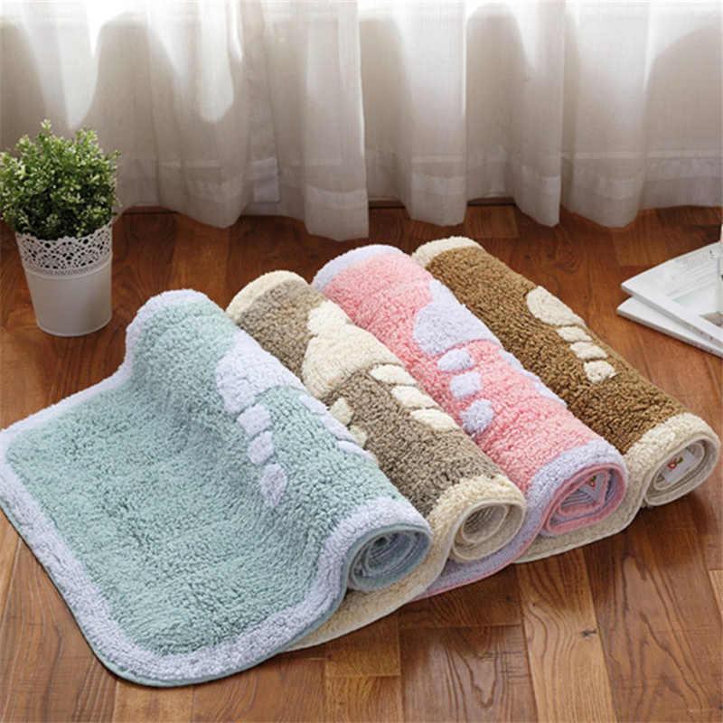 Хлопок ковры для Гостиная современные напольный коврик для Кухня мягкие Ванная комната ковер воды абсорбент коврик для ванной tapis Туалетная Pad