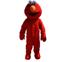 2015 New Free Shipping Long Fur Red Big Eyes Costumes Elmo Mascot Costumes