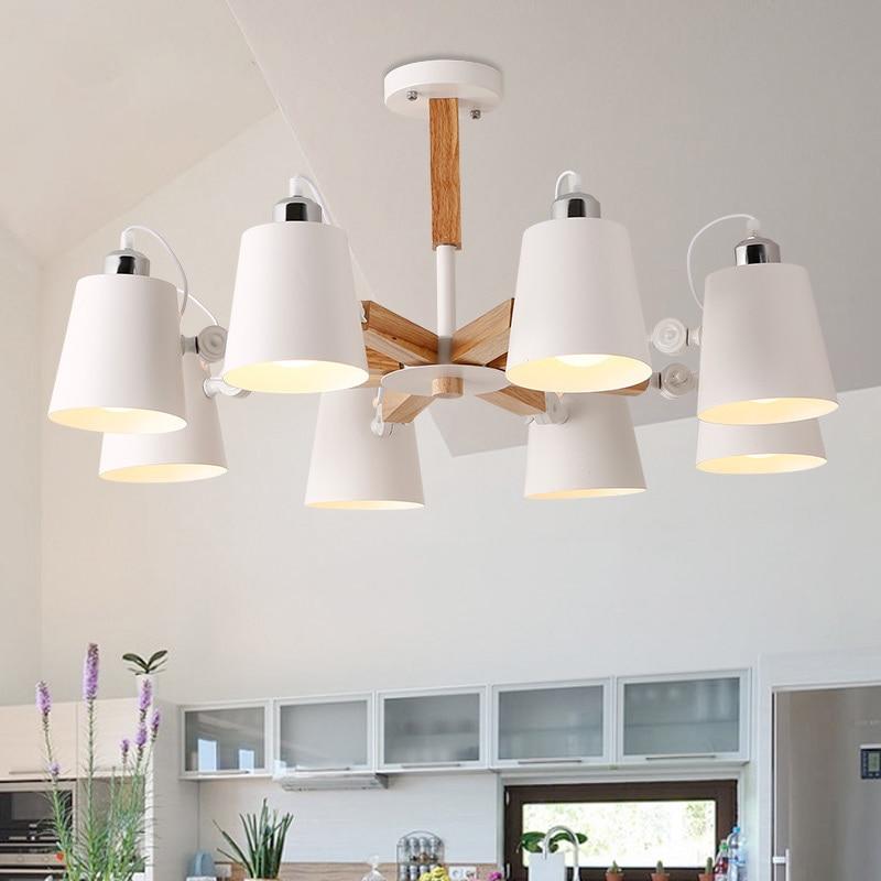 Модные красочные современные деревянные потолочные светильники Lamparas минималистский дизайн тенты светильник столовая потолочные