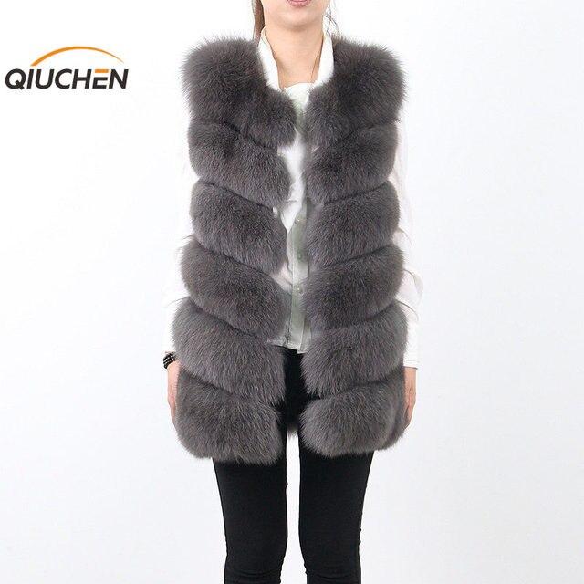 QC8049 QC de PIEL 2016 Nuevas mujeres bienes fox chaleco de piel gilet piel de alta calidad caliente de la venta DEL ENVÍO LIBRE