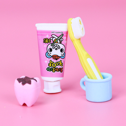 4PCS/Set New Fashion Tooth Shaped Eraser Rubber Stationery Kid Gift Cute Pupils Supplies