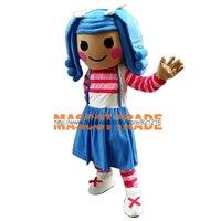 Hot lalaloopsy girl Mascot Costume Cartoon Fancy Dress Free Shipping Adult Size
