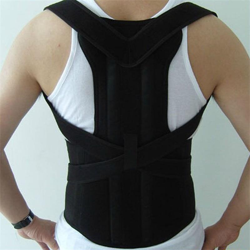 Adjustable Male Belt Men Posture Corrector Therapy Posture Orthopedic Shoulder Pain Lumbar Corset Back Brace Belt Straps free size o x form legs posture corrector belt braces