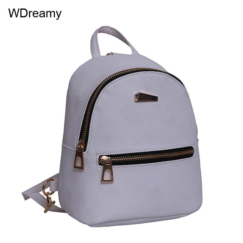 37d1ecfb811e women shoulder bag Pu Rivet Backpack For Women Teenage Girl Female Backpack  Rucksack Mochila Escolar School Students Bag-in Backpacks from Luggage    Bags on ...