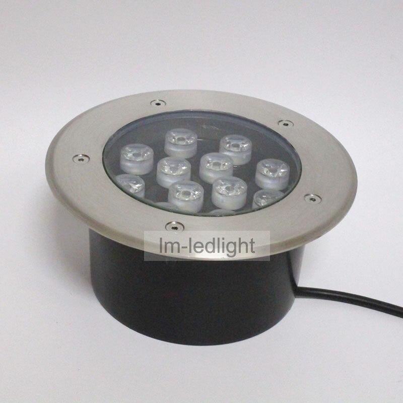 Outdoor Lighting 12V 12W IP67 Waterproof Led Spotlight Bridgelux 45mil Recessed  Outdoor Lampara Led Exterior(