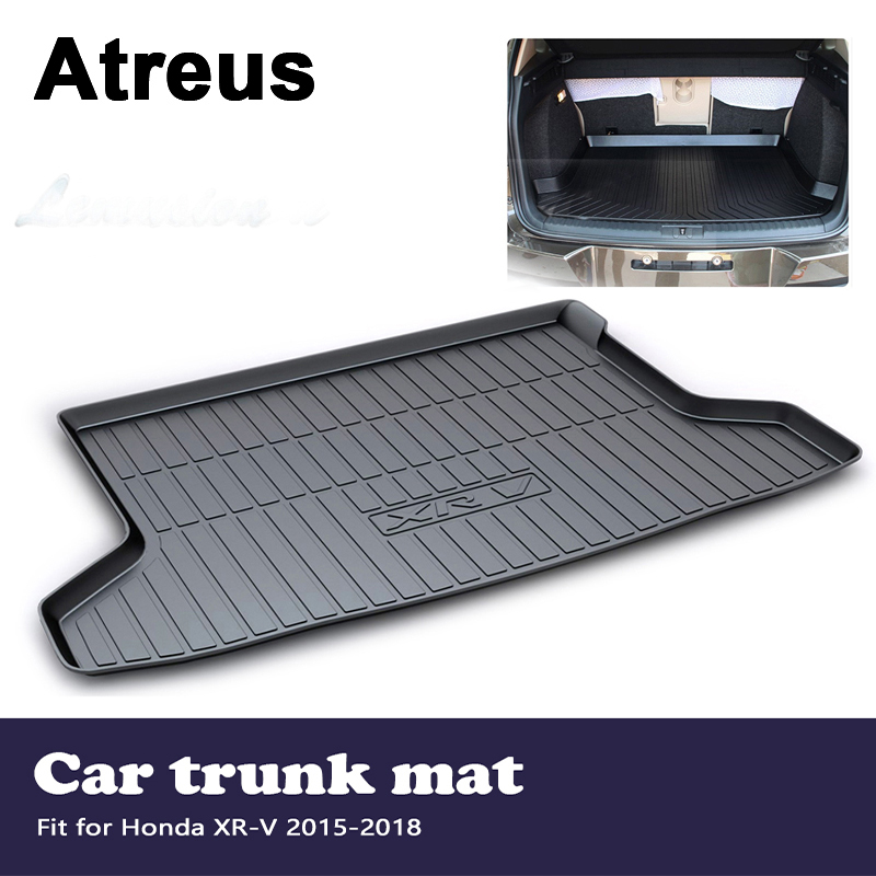 Atreus Car Accessories Waterproof Anti-slip Trunk Mat Tray Floor Carpet Pad For Honda XR-V 2015 2016 2017 2018Atreus Car Accessories Waterproof Anti-slip Trunk Mat Tray Floor Carpet Pad For Honda XR-V 2015 2016 2017 2018