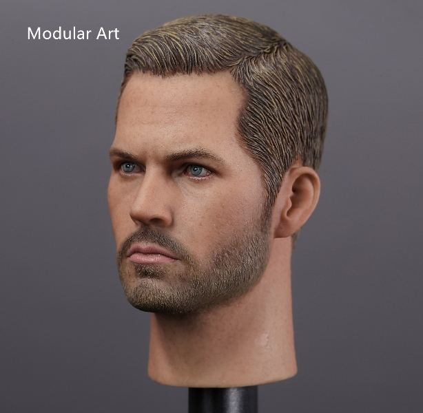 "1/6 scale figure doll head shape for 12"" action figure doll accessories.Fast & Furious Brian O'Conner Paul,Walker head sculpt"