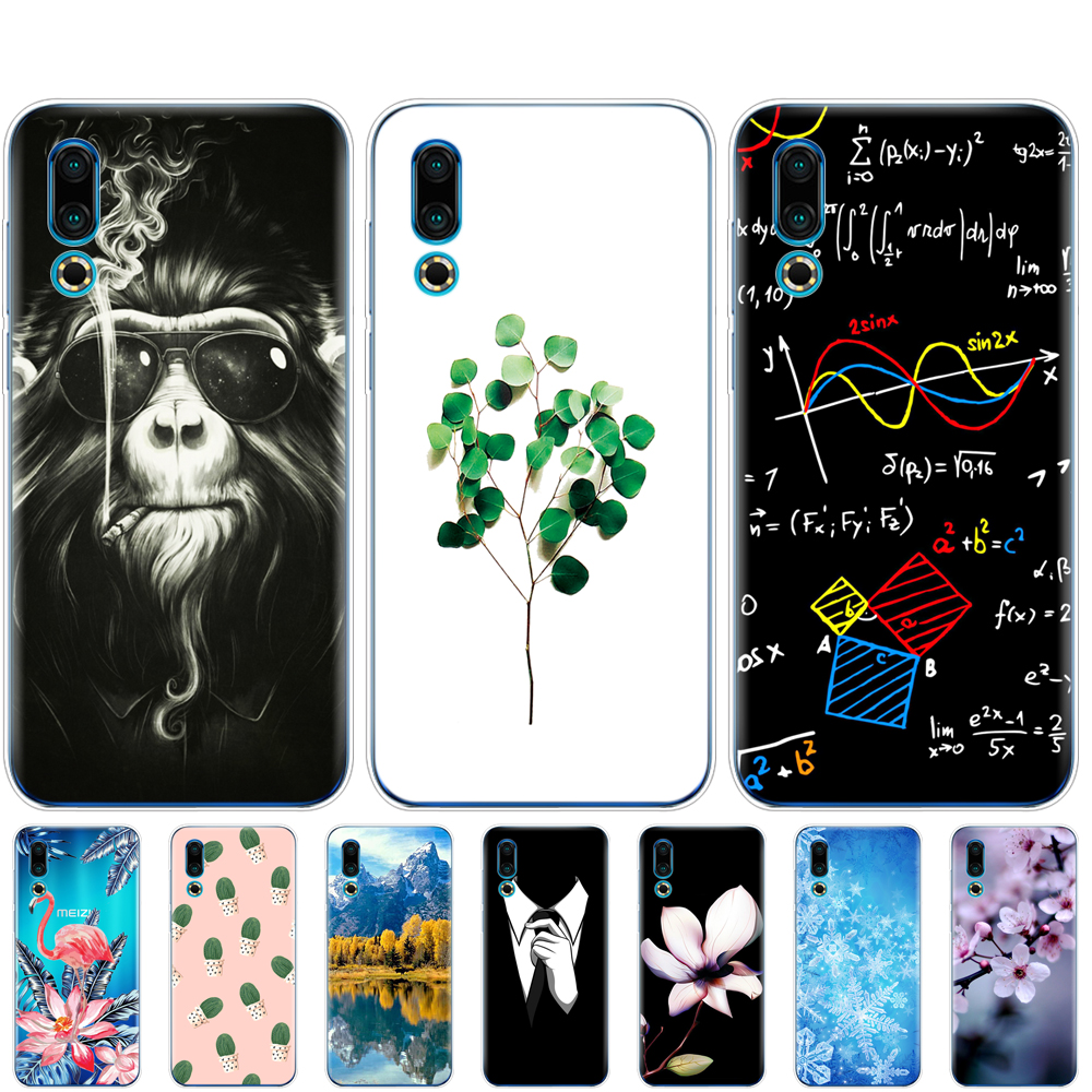 For <font><b>Meizu</b></font> 16S Case 6.2'' Painted Soft TPU Silicone Back Cover For <font><b>Meizu</b></font> 16s <font><b>16</b></font> S Phone Cases Slim For Meizu16S Coque bumper cute image