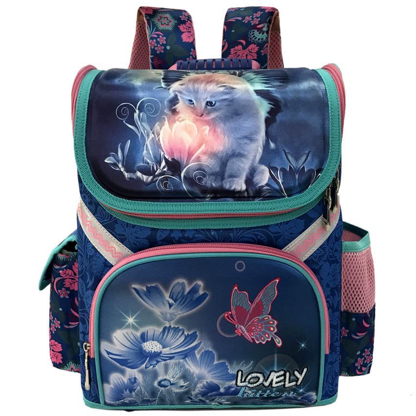Новый Класс 1-3-5 студент Обувь для девочек бабочка цветок Детские ортопедические Школьные ранцы для Обувь для девочек 2017 Детская рюкзак школ...