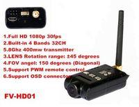New 5 8G 400mW 32CH AIO HD 1080P FPV Racing Drone Wireless Transmitter DV Camera