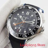 41mm Black Dial GMT Hand Auto Date Luminous Hand Sapphire Crystal Automatic Men's Watch