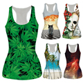 Alisister 21 Model Sexy Bustier Crop Top Bralette Women Cropped Feminino Basic Tank Tops galaxy/weed Camisole Crops For Summer