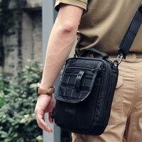 ROCOTACTICAL Multi use Tactical Bag Single Shoulder Military Ipad Bag Cordura Nylon MOLLE Utility Travel Messenger Bag