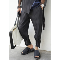 Summer ankle length trousers male trend of the leg pants skinny leg pants loose beam