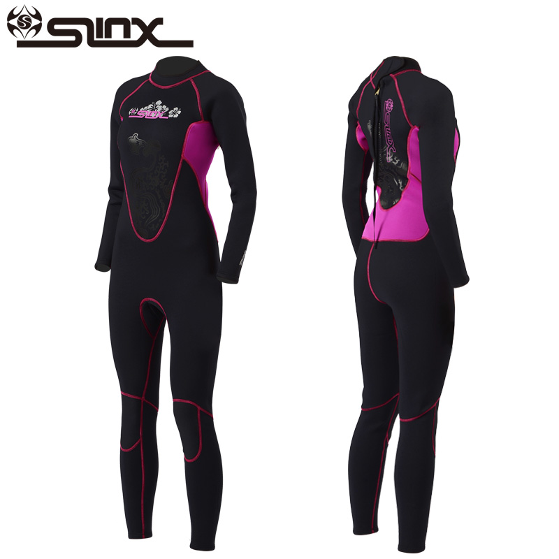 Slinx 3mm Women Full Body Scuba Dive Wet Suit Long Sleeve Neoprene Wetsuit Winter Swim Surfing Snorkeling Spearfishing Water Ski high quality cortex 3 5mm surf diving wet suits jacket men women surfing diving spearfishing wet suit long sleeve jacket wetsuit