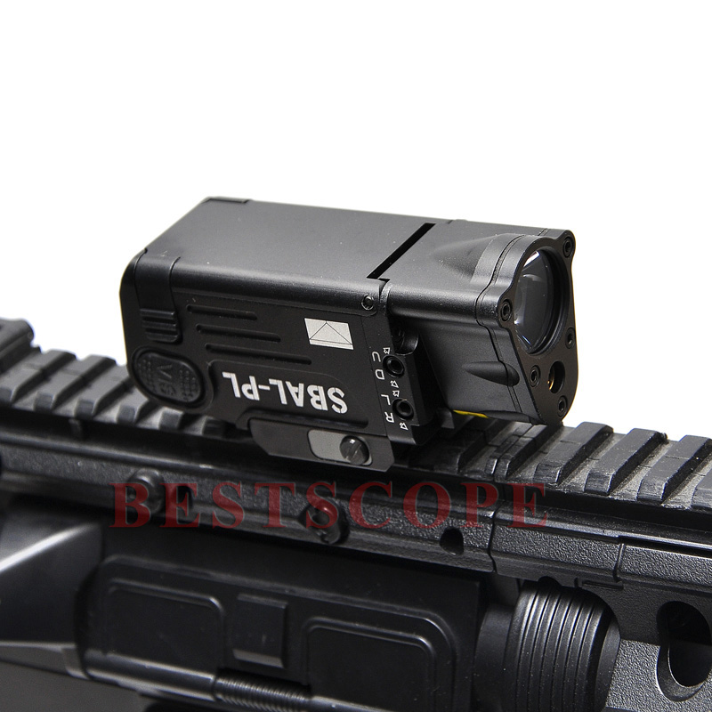Tactical CNC Finished SBAL-PL LED Weapon Light With Red Laser Pistol/Rifle Flashlight Constant Momentary Strobe Flashlight aimtis tactical laser flashlight sbal pl hunting weapon light combo red laser pistol constant