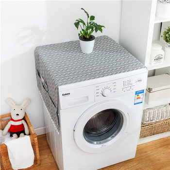 10PCS Nordic 6 styles Refrigerator cover cloth drum washing machine cover printing thick cloth dust cover Towel with pocket