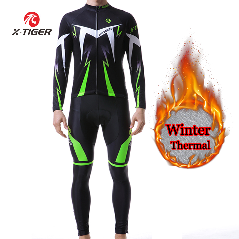 X TIGER Winter Thermal Fleece Cycling Sets Maillot Ropa Ciclismo Keep Warm MTB Bike Wear Bicycle
