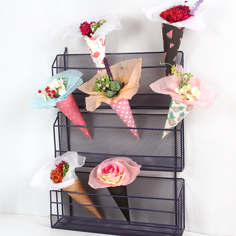 Online shop 20pcslot flower packaging paper kraft paper cones online shop 20pcslot flower packaging paper kraft paper cones bouquet candy boxes wedding birthday party gift wrapping paper package aliexpress mobile mightylinksfo