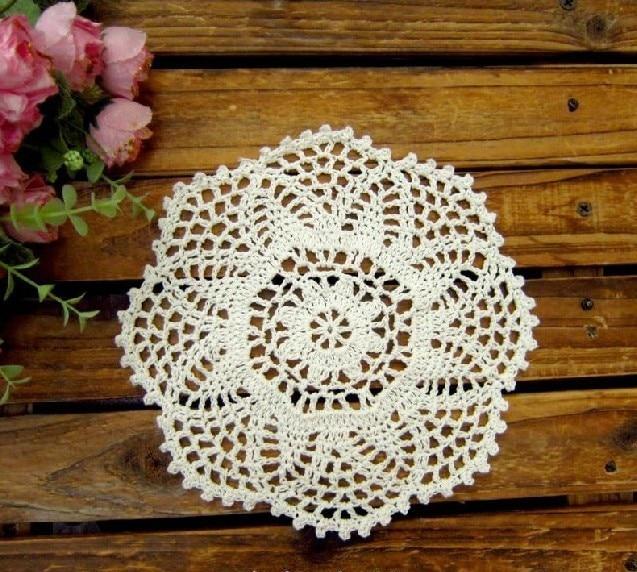 Crochet Doilies Pineapple Flower Wedding Round Tablemats Vintage
