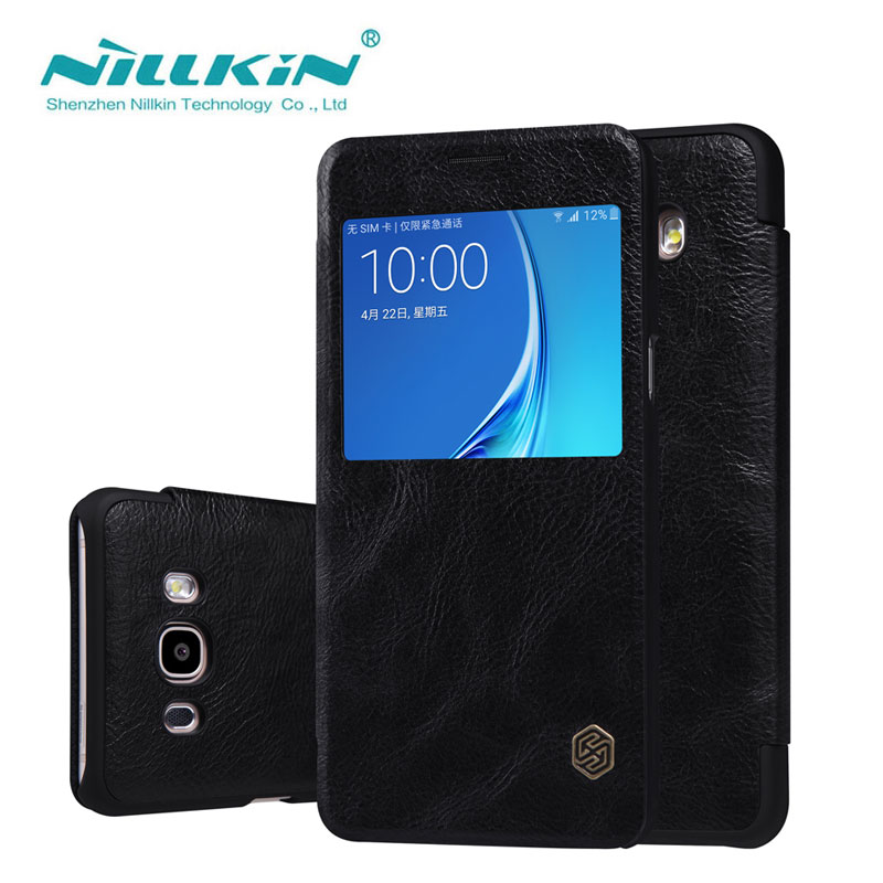 Flip Case For Samsung Galaxy J5 2016 J5108 5 2 inch Nillkin Qin Series Cover sFor