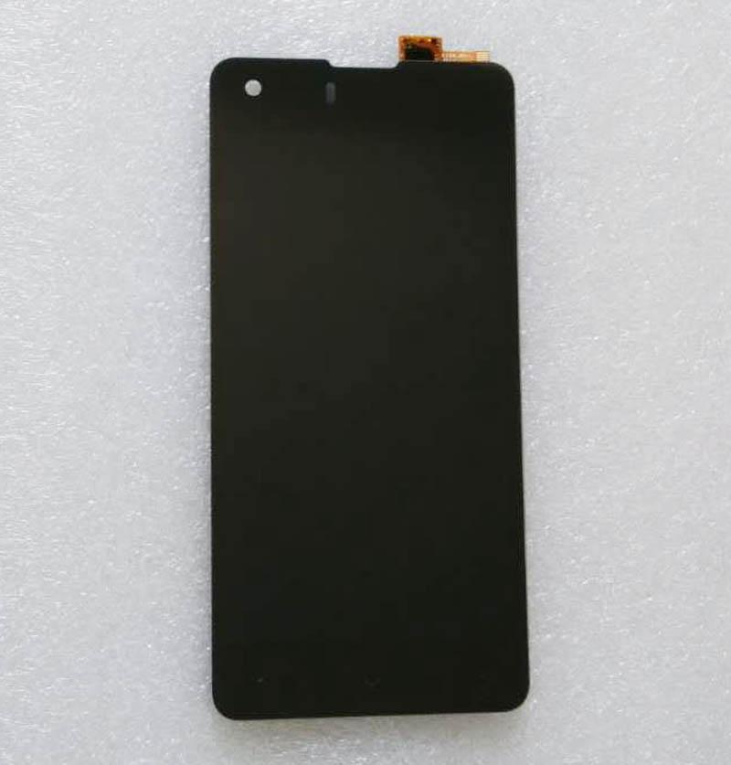 Haute Qualité Pour Highscreen Omega Premier S 4.7 pouce Écran lcd + Écran Tactile Digitizer Assemblée Noir Couleur avec 3 m autocollants