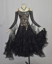 Standard Ballroom Dance Skirt Women 2019 High Quality Black Dancing Dress Ladys Competition Dresses