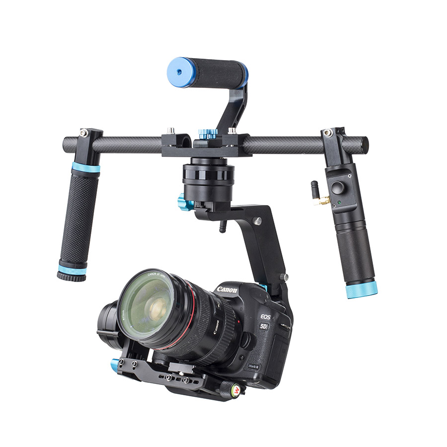 Wondlan NEW SK03 3-Axis Brushless Gimbal Stabilizer Handheld DSLR Gimbal Dual handle For SONY Canon Cameras load 2KG yuneec q500 typhoon quadcopter handheld cgo steadygrip gimbal black