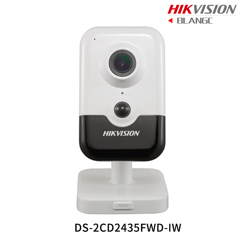 Hikvision New H.265 Mini wireless IP Camera DS-2CD2435FWD-IW 3MP EXIR Cube Camera replace DS-2CD2432F-IW built in microphone