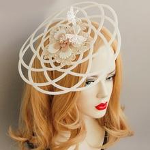 Европейская принцесса бабочка голова в короне украшения для волос невесты белая Геометрическая полый дуговой топ шляпа Головной убор Ретро цветок