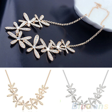 Women's Vintage Full Rhinestone Snowflake Pendant Alloy Choker Chain Statement Necklace 1P6F