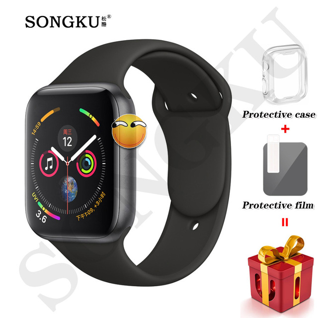 IWO 8 PLUS 44mm Watch 4 Heart Rate Smart Watch case for apple iPhone Android phone IWO 5 6 upgrade Watch series 4 1:1