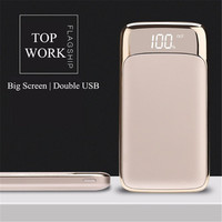 20000mah Power Bank External Battery Quick Charge Dual USB LED Powerbank Portable Mobile Phone Charger For