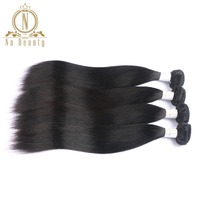 Brazilian Hair Bundles 4pcs 100% Human Hair Remy Straight Natural Black Color Extensions Hair Weaves Bundles Deal Weft Na Beauty