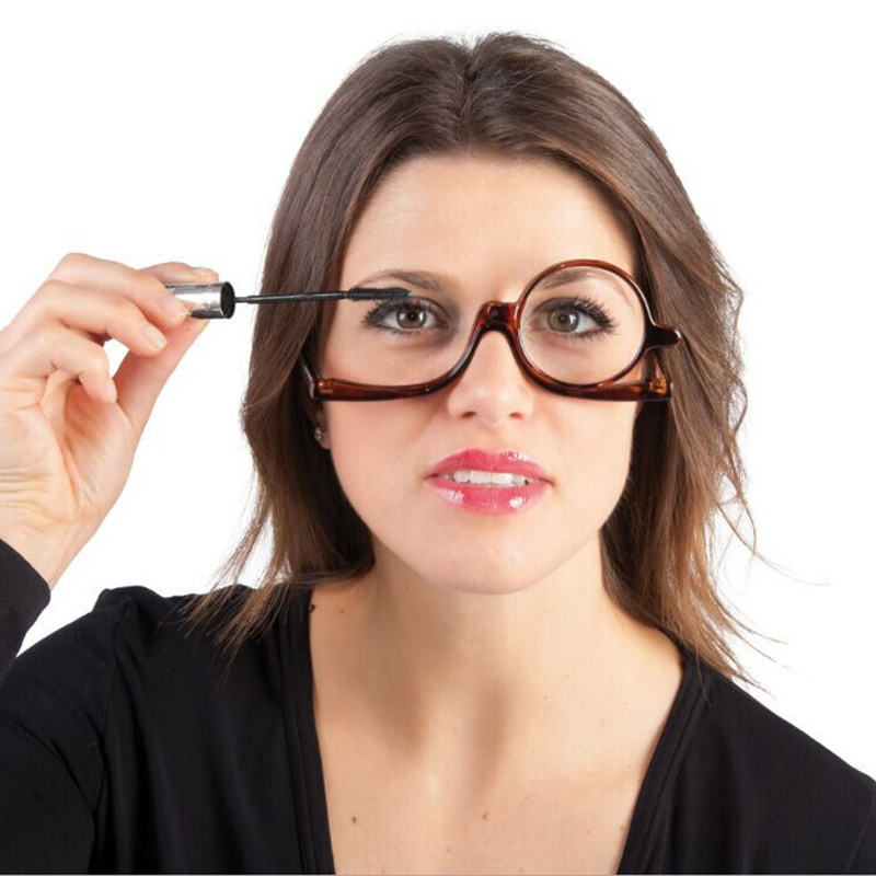 Women Cosmetic Glasses Making Up Reading Glasses Makeup Glasses Rotatable Frame Ladies Reading Glass +1.5 2.0 2.5 3.0 3.5