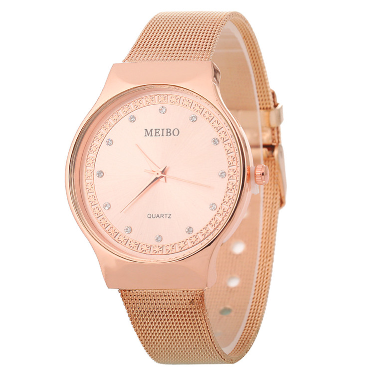 Rose Gold Stainless Steel Rhinestone Wristwatch For Women Luxury Fashion Rosefield Watches Diamond Ladies Dress Clock Dropship