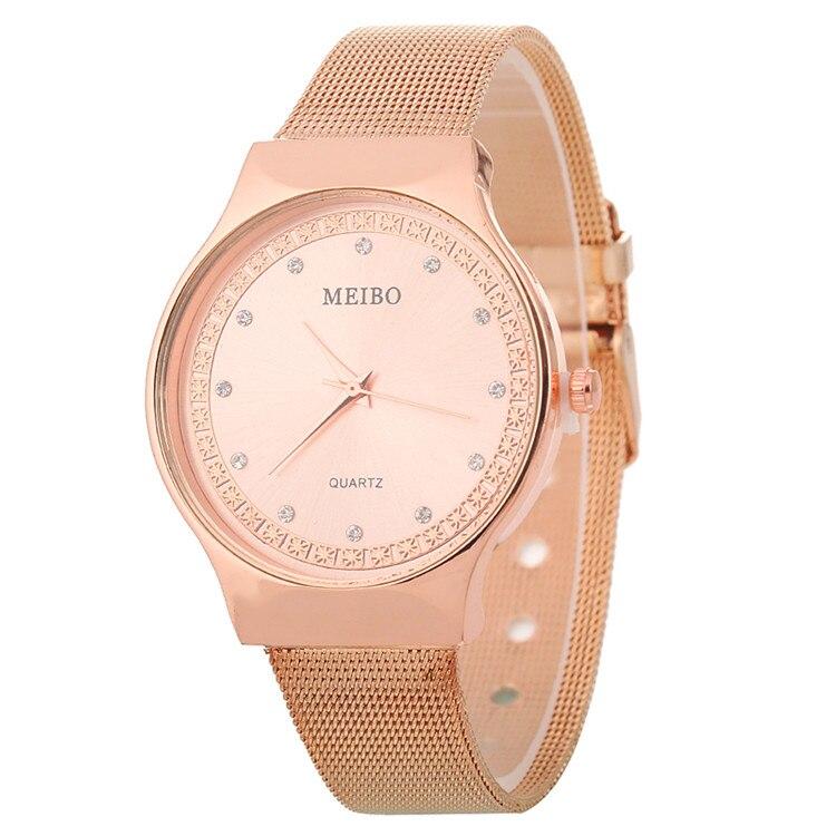 Rose Gold Stainless Steel Rhinestone Wristwatch For Women Luxury Fashion  Watches Diamond Ladies Dress Clock Dropship