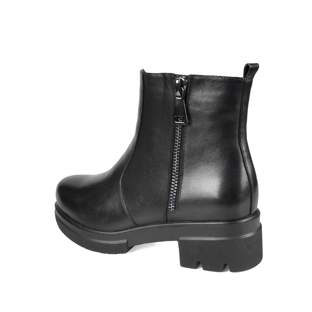 LIDIAN-Women-flat-heel-Ankle-Boots-high-quality-Genuine-Leather-Shoes-woolfur-Inside-Autumn-Fashion-Black (2)