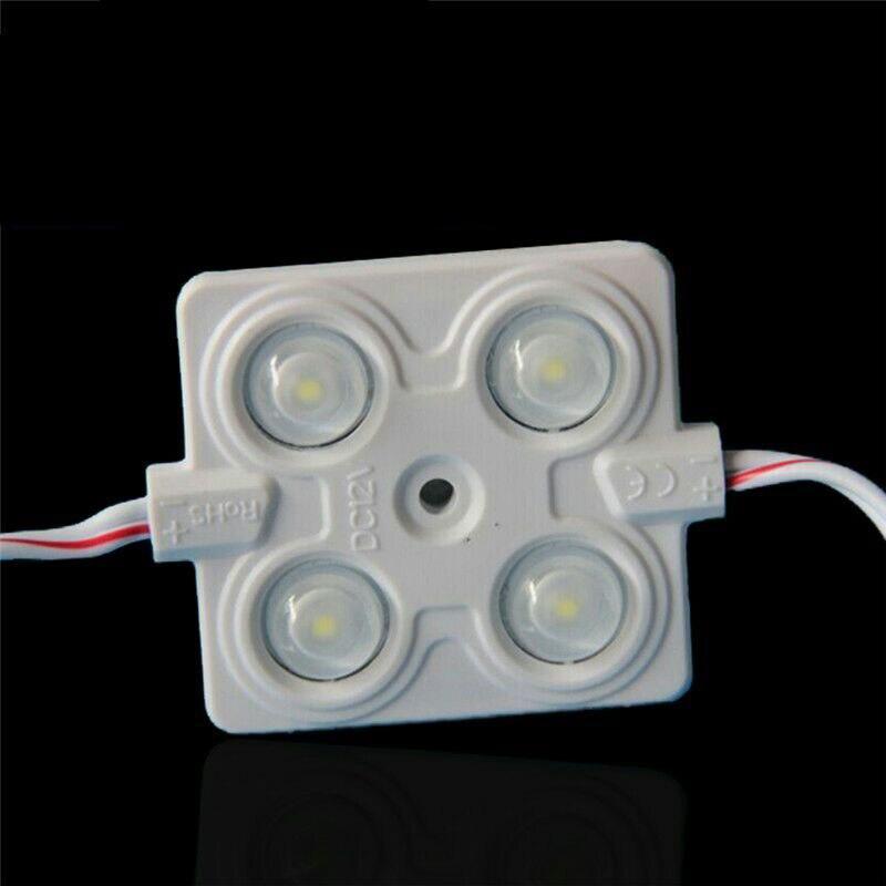 100pcslot SMD2835 4leds injection led module with len 160 degree,DC12V,2.4W super brightness for Logo letter backlighting