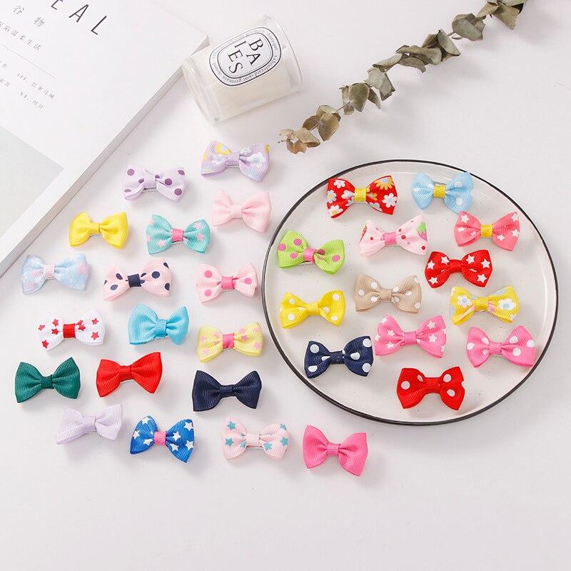 10PCS/Lot Fashion Girls Colorful Bow Flower Spot Star Hairpins Barrettes Children Cute Hair Clips Headband Kids Hair Accessories