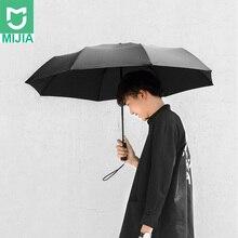 Xiaomi Mijia อัตโนมัติพับ 1 ร่มและเปิด 420g อลูมิเนียม Windproof Man กันน้ำสำหรับฤดูหนาวฤดูร้อนร่ม