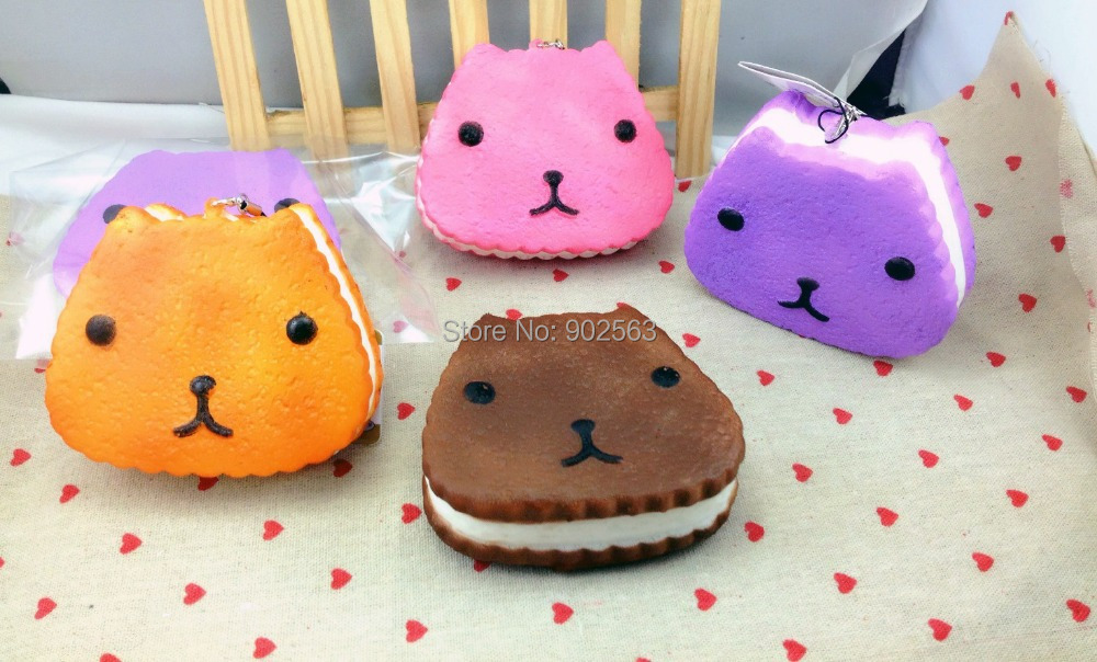 2015 new arrival 3color RARE kapibarasan jumbo squishy charms+tag cute kawaii animal squishy ...