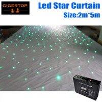 2 M * 5 M Wit Licht Gordijn LED Ster Doek LED Achtergronden  LED Enkele Kleur Star doek voor nachtclub LED Gordijn Scherm Dmx