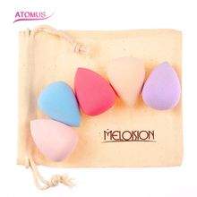 5pcs Sponge Makeup Puff Set Foundation Base Powder Cream Blending Concealer Blush Cosmetic Facial Make Up Mixing Puffs Kit
