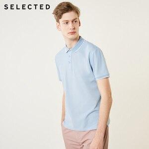 Image 2 - Verão masculino selecionado puro color turn down collar polo s de manga curta