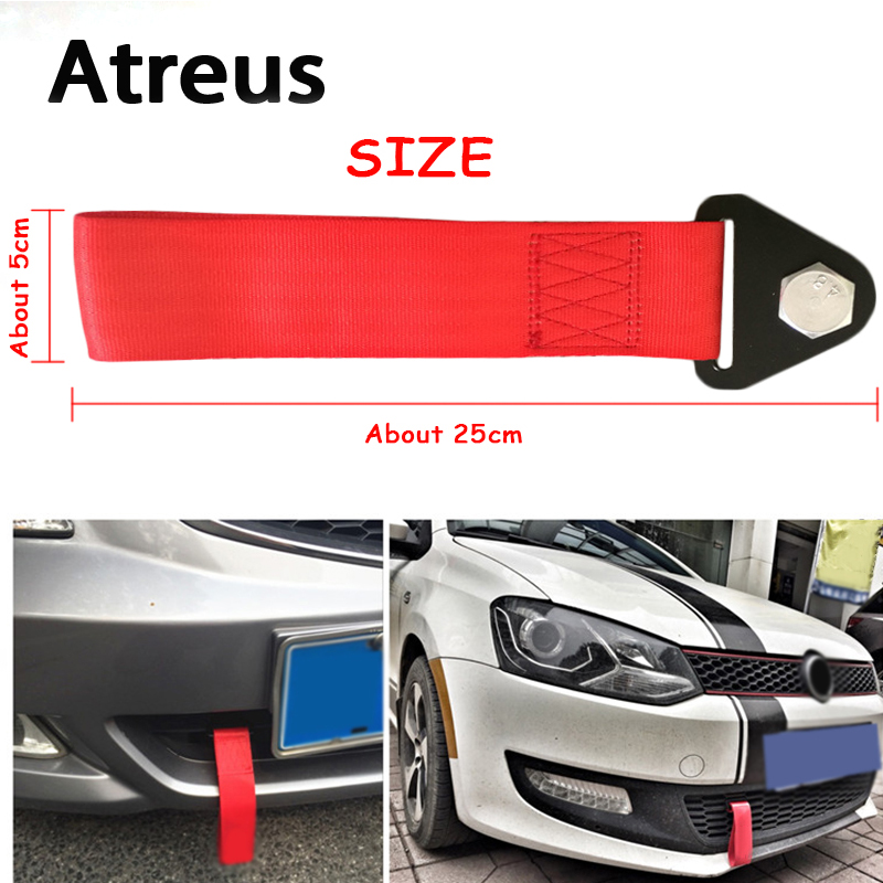 Atreus 1pc Car styling Trailer Belt Tow Hook Strap Nylon Ropes For Lexus Honda Civic Opel astra h j Mazda 3 6 Kia Rio Ceed Volvo купить