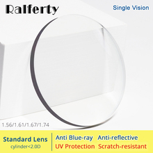 Ralferty 1.56 1.61 1.67 1.74 Optical Lenses Anti Blue Light Prescription Glasses Lens Eyes Clear Myopia Diopter Thin HMC Lentes